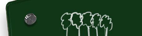 Tableau en verre vert forêt